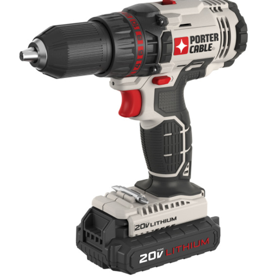 Cordless Electric Power Drill Tool 20V Max Lithium Ion 1/2 in. Drill Driver Kit