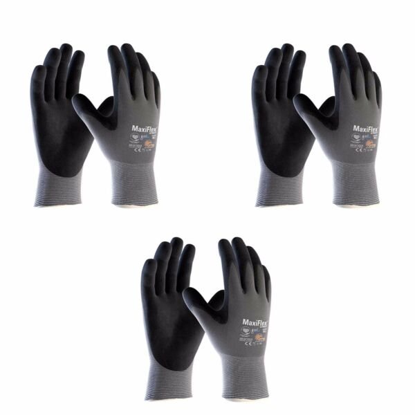 ATG Work Gloves Nitrile Grip MaxiFlex® Ultimate 42-874 AD-APT (3 Pairs) XS-XXL