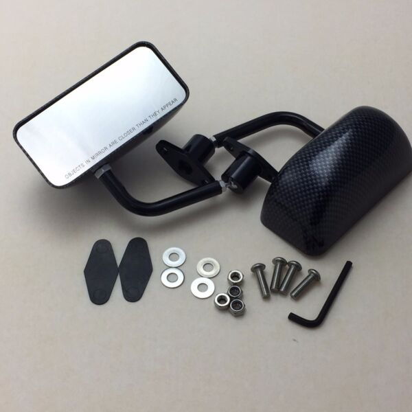F3 racing side mirrors BLACK CARBON SHEET DIPPING FOR Corolla Supra Starlet MR2 $75.00