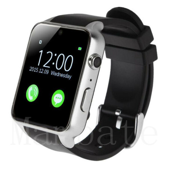 Waterproof Bluetooth Smart Watch Phone Mate For iphone IOS Android Silver