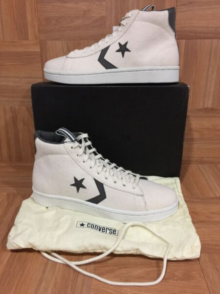RARE�� Converse PRO Mid Hemp Cream Cloud Dr. J Retro Basketball Sneakers Sz 8 LE