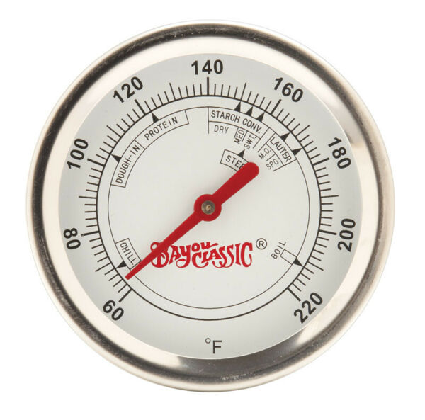 Bayou Classic  Analog  3 in. H Brew Thermometer