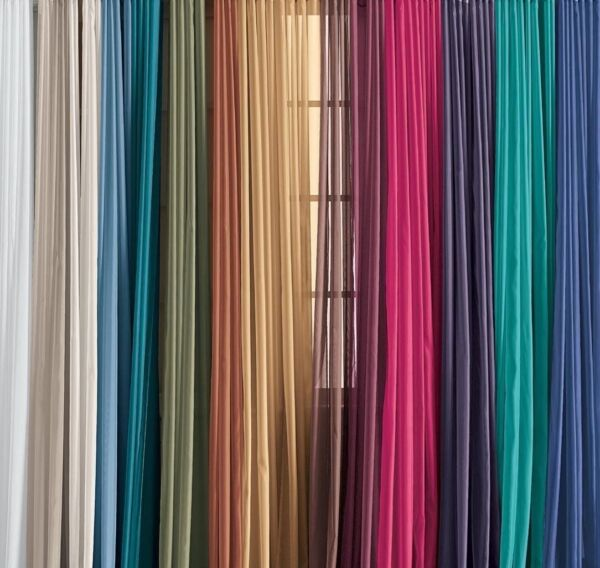 Lovely Solid One Panel Sheer Curtain Window Drape 54