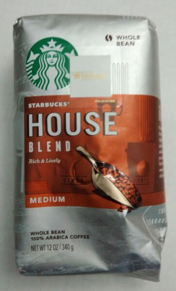 Starbucks Coffee - Whole Bean - Medium - House Blend - 1 Bag (12 oz)