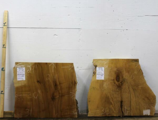 Thick Hard Maple Live Edge Table Base Rustic Custom Natural Wood Slab Set 4670x1