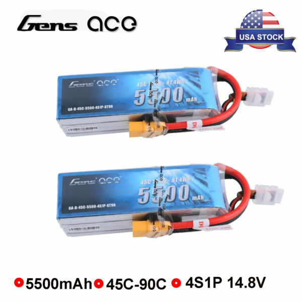 Ultrax 6300mAh 14.8V 4S RC Lipo Battery Replacement For Yuneec Typhoon H Drone
