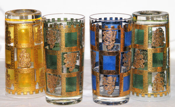 Set 4 Rare WEST VIRGINIA GLASS