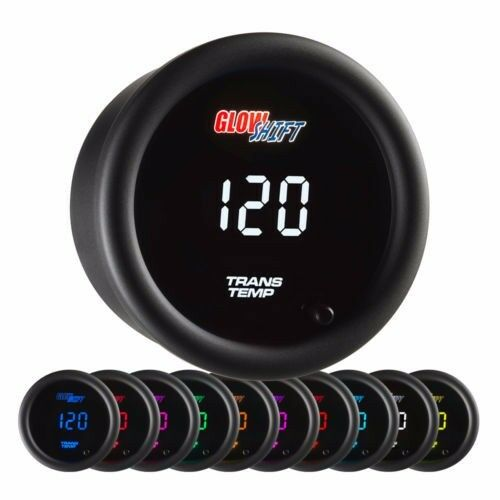 GlowShift 10 Color Digital Transmission Temperature Gauge GS-TCD12