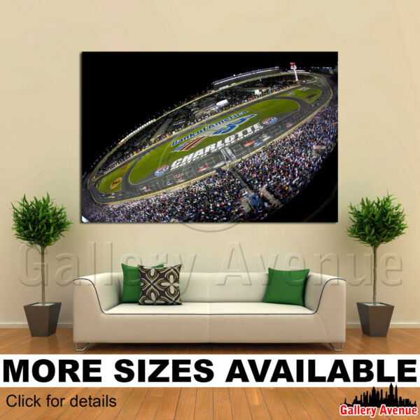 A Wall Art Canvas Picture Print - NASCAR Bank of America 400 3.2