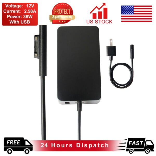Charger Adapter Cord Power Supply 1625 For Microsoft Surface Pro 3 Pro 4 36W AK