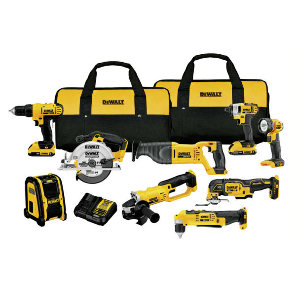 DeWalt DCK940D2 20V MAX Cordless Li-Ion 9-Tool Combo Kit w/ 2Ah Batteries New
