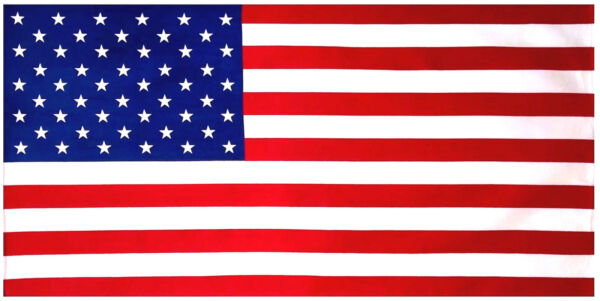Special 4th July 4pcs Pack American Flag Velour Beach Towel