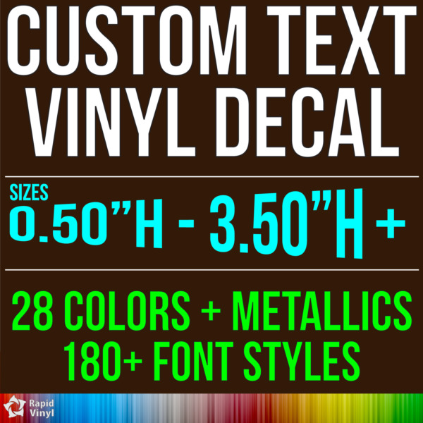 Custom Vinyl Lettering Decal Personalized Sticker Window Wall Text City Name Car $6.99