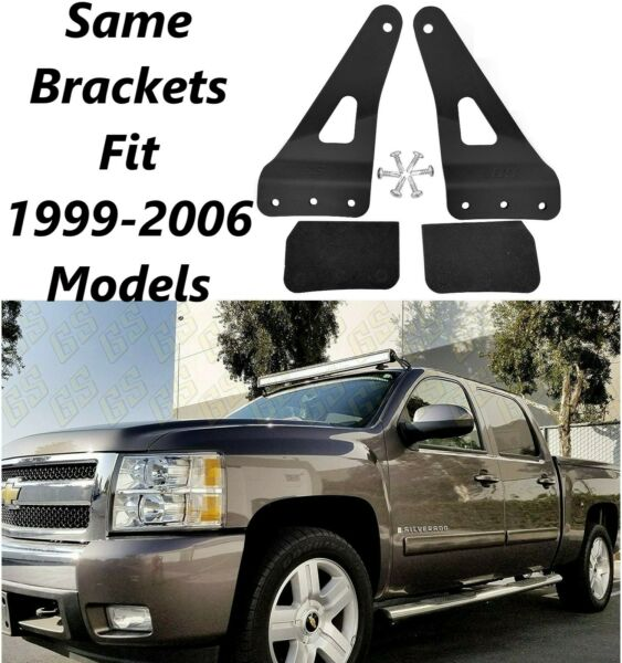 50quot; Straight LED Light Bar Mounting Bracket for Chevy GMC 1999 2006 Windshield