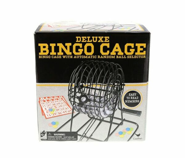Cardinal Industries Deluxe Bingo in Cage in Box Family Game Set