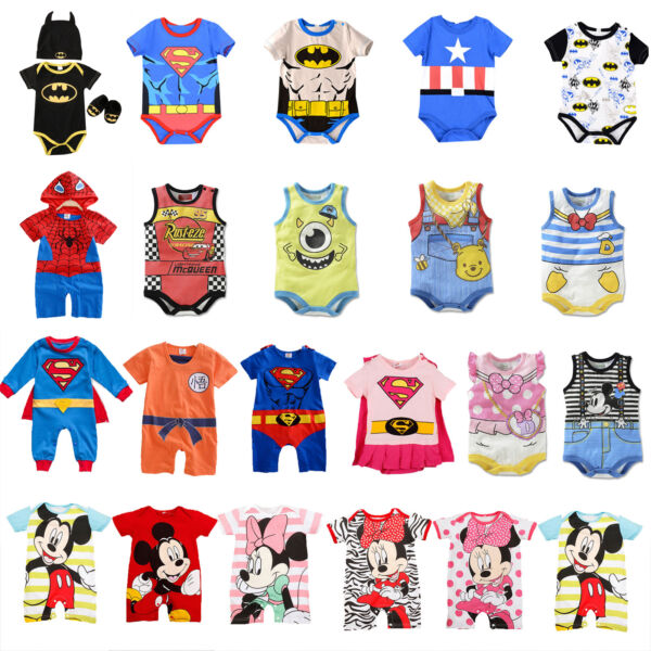 Newborn Infant Baby Boy Girls Romper Bodysuit Jumpsuit Playsuit Clothes Outfits