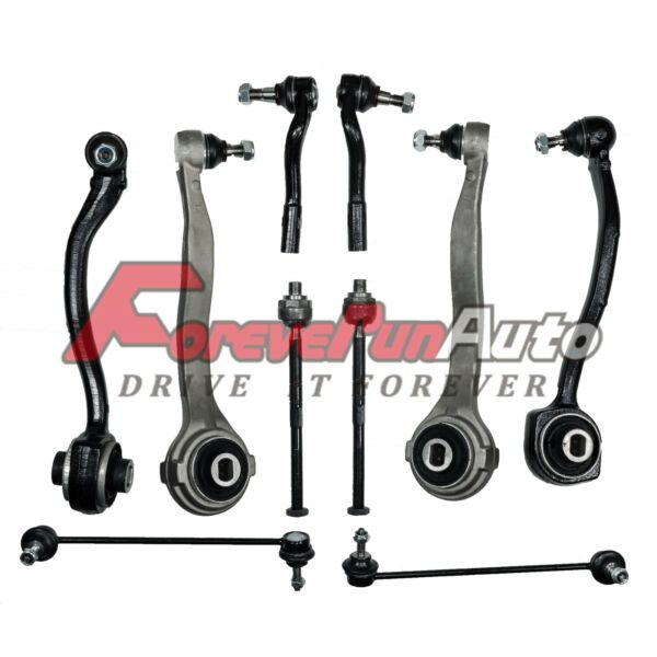 10pc Suspension Kit Control Arms Tie Rod Sway Bar for Mercedes W203 MB C CLK