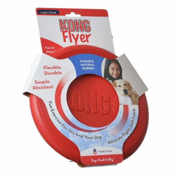 Kong Flyer Dog Flying Disk Large  Free Shipping $13.95