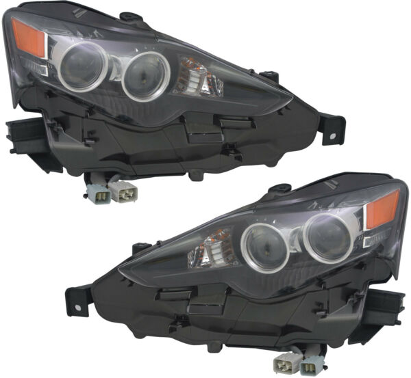 LED Headlights Assembly wBulb NEW Pair Set for 14-15 Lexus IS250 IS350