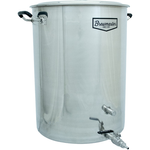 25 Gallon Brewmaster Stainless Steel Brew Kettle 2 Ports Beer Moonshine w Valve $165.99