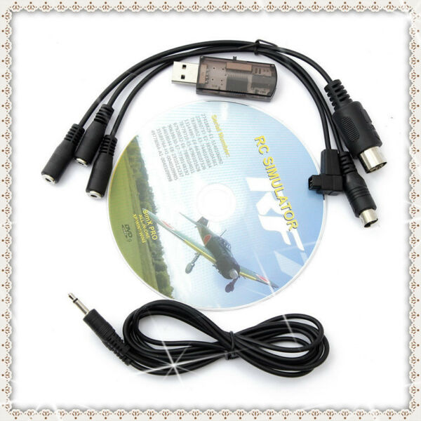 Flight RC Simulator 22 in 1 RC USB Cable for G7 Phoenix Aerofly XTR Helicopter