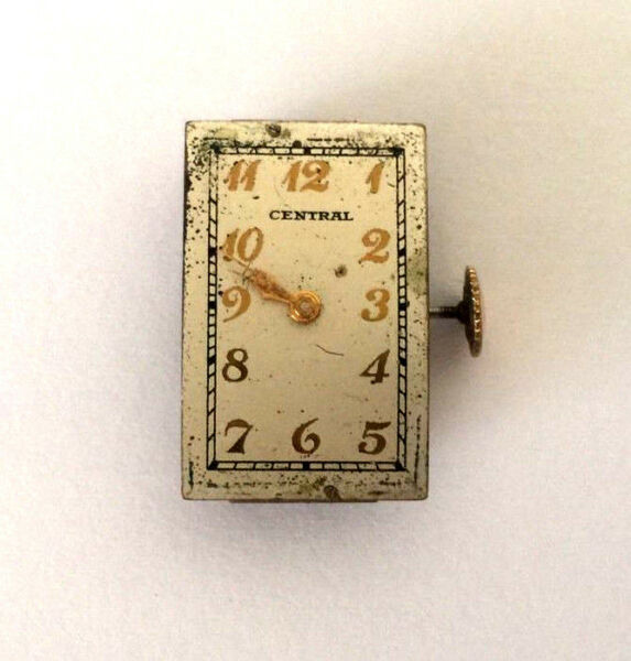VINTAGE CENTRAL MODEL 11 SWISS MOVEMENT DIAL WIND UP 17 JEWELS FOR PARTS $39.99