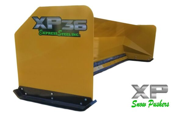 12' XP36 Snow pusher boxes backhoe loader snow plow - LOCAL PICK UP - RTR
