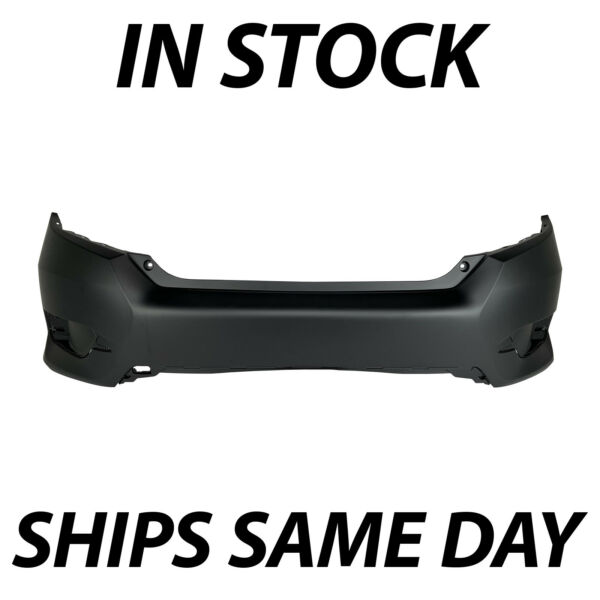 NEW Primered Rear Bumper Cover Replacement for 2016 2020 Honda Civic Sedan 16 20