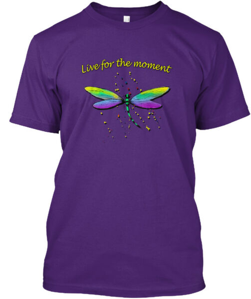 Dragonfly. Live For The Moment - Hanes Tagless Tee T-Shirt