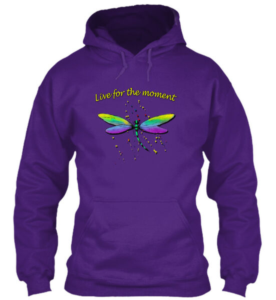 Dragonfly. Live For The Moment - Gildan Hoodie Sweatshirt