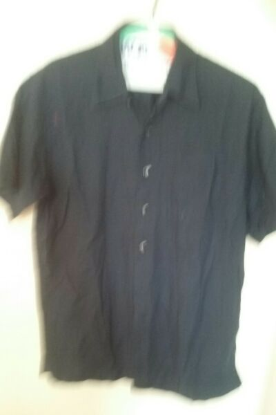 Cutter and Buck men bottom up shirt size Medium color navy blue