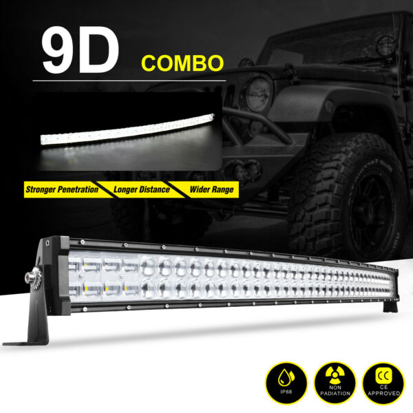 Curved 42inch 560W Led Work Light Bar Flood Spot Combo 4WD ATV Truck Lamp VS 40quot;