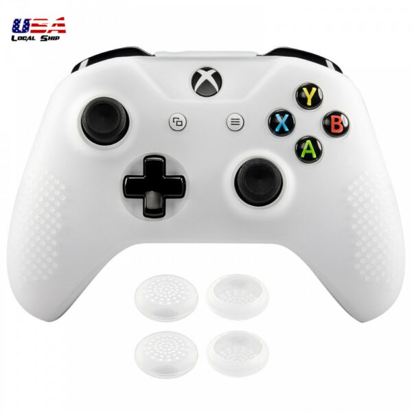 Soft Silicone Controller Case Cover Thumb Stick Grip Caps for Xbox One X One S