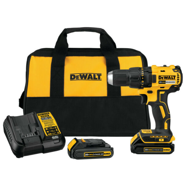 DEWALT 20V MAX Li-Ion Compact Brushless Drill Driver Kit DCD777C2 Reconditioned