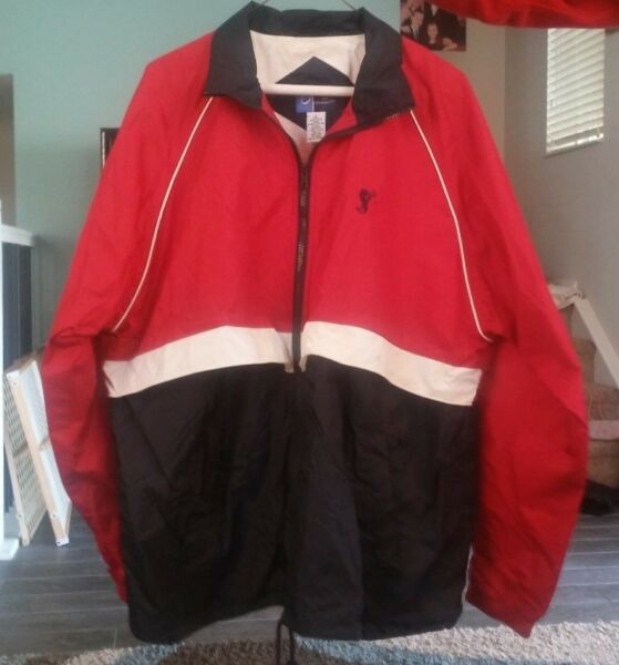 Port and Company Starbucks Men#x27;s L Red White and Blue Jacket Windbreaker N w o t