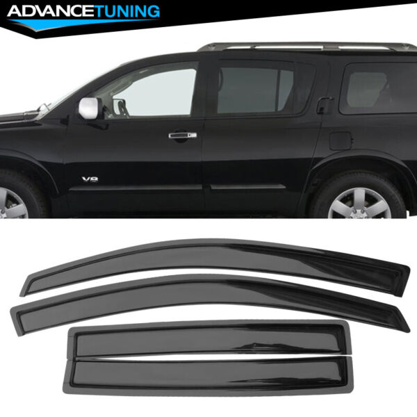 Fits 04-16 Nissan Armada Acrylic Window Visors 4Pc