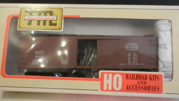 Train Miniature HO New York Central Wood DS Boxcar Kit NIB $20.00