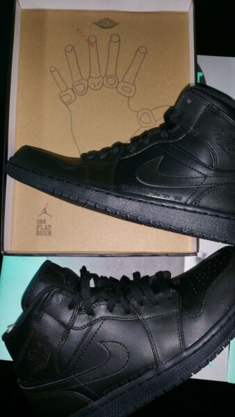 Air Jordan 1 Mid Black Laser Quickstrike Championship Flatbush Exclusive size 9