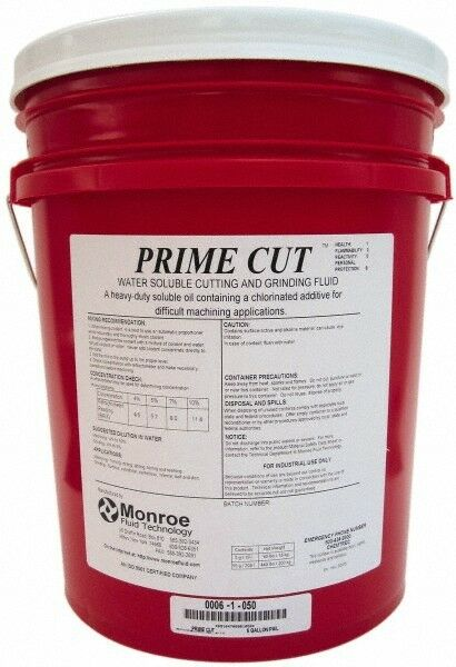 Monroe Fluid Technology 5 Gal Pail Cutting & Grinding Fluid Water Soluble Fo...