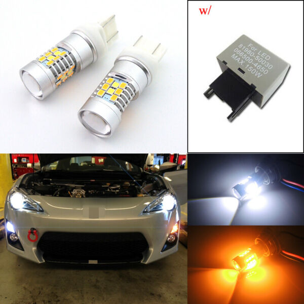 Switchback 28 SMD LED Bulbs amp; Flasher for Scion FRS 2013 2016 Turn Signal Lights