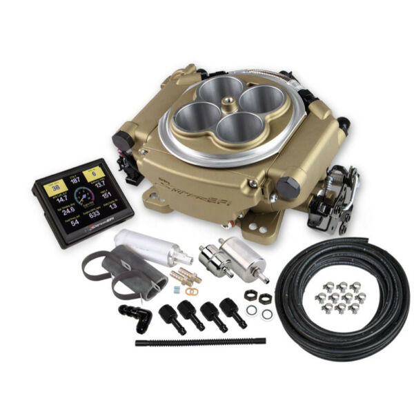 Sniper by Holley Fuel Injection System Kit 550-516K; 650HP Self-Tuning TBI Gold