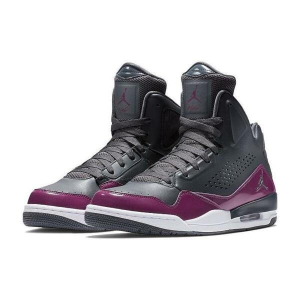 AIR JORDAN SC-3 FLIGHT 629877 022 ANTHRACITE GREY/BLACK-WHITE-BORDEAUX-BURGUNDY
