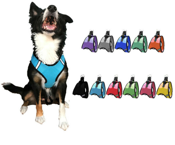 Nylon Mesh Easy Step In Quick Release Padded Soft Puppy Pet Dog Harness $8.99