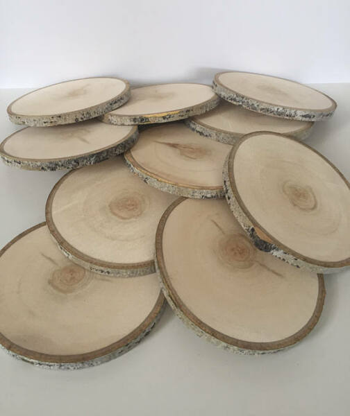 10 5 5.5quot; Large Wood Centerpieces Wood Slices Wood Slabs Rustic Wedding