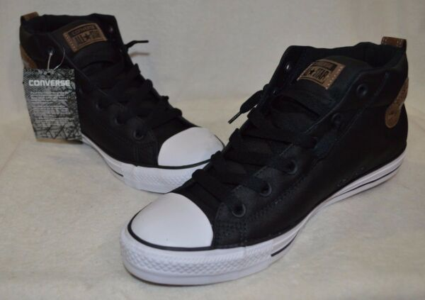 Converse Men's All Star CT Street Nylon Mid-Top Black/Pinec Sneakers-Asst Sizes