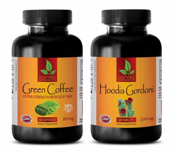 Fat burner for weight loss - GREEN COFFEE EXTRACT – HOODIA GORDONII COMBO - diet