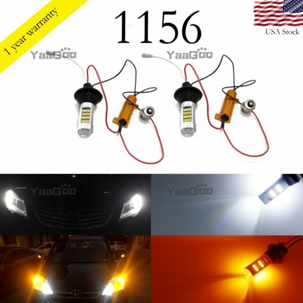 p21w 1156 7507 Switchback LED Bulbs For Turn Signal Light and DRL Daylight
