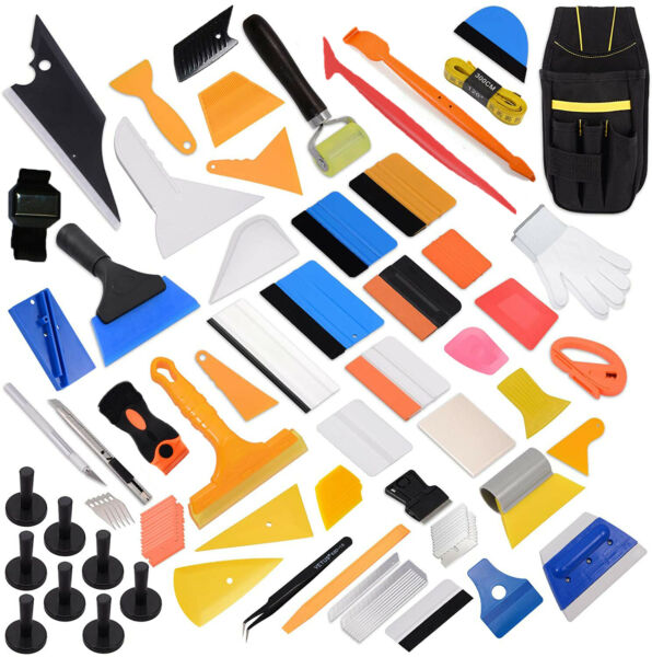 Professional Car Window Film Wrapping Tint Tool Deluxe Kit for All Car Type DIY