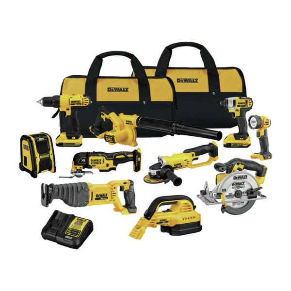 Dewalt 20V MAX Lithium-Ion 10 Tool Combo Kit. DCK1020D2 New