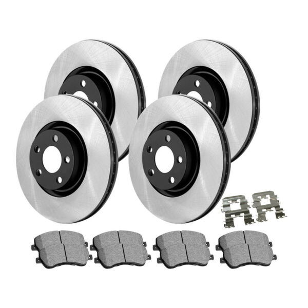 Centric Front&Rear High Carbon Brake Rotor Metallic Pad 6PCS For 2013 MB S63 AMG